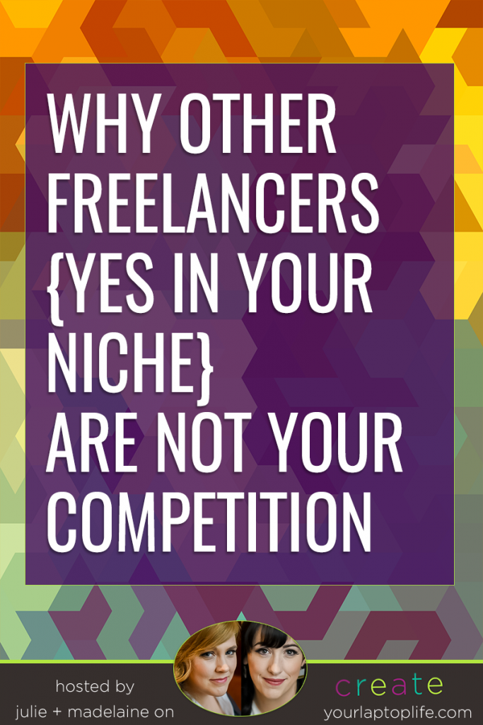 Freelancers, take note. YOU are your brand. That is ultimately what gives you a shot at this gig more than anything else…what you bring to your biz. Don't try to be anything other than yourself, which means you have to like yourself first.