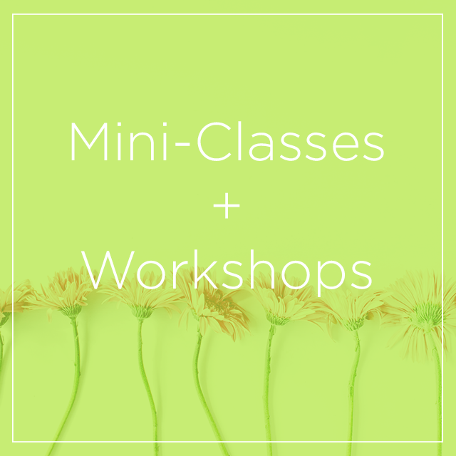 Mini Classes + Workshops